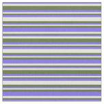 [ Thumbnail: Slate Blue, Light Yellow & Dark Olive Green Lines Fabric ]