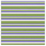 [ Thumbnail: Slate Blue, Light Yellow & Green Pattern Fabric ]