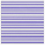 [ Thumbnail: Slate Blue & Mint Cream Colored Stripes Fabric ]