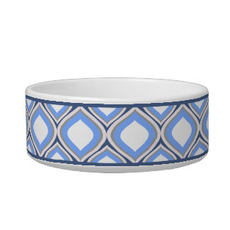 Slate Blue Ogee Small Ceramic Dog Bowl