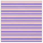 [ Thumbnail: Slate Blue & Pink Lined/Striped Pattern Fabric ]