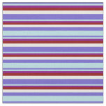 [ Thumbnail: Slate Blue, Powder Blue, Purple, Red & Mint Cream Fabric ]