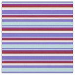 [ Thumbnail: Slate Blue, Powder Blue, Purple, Red & Mint Cream Fabric ]