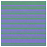 [ Thumbnail: Slate Blue & Sea Green Stripes Fabric ]