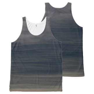Slate Blue Sky Unisex tanktop All-Over Print Tank Top