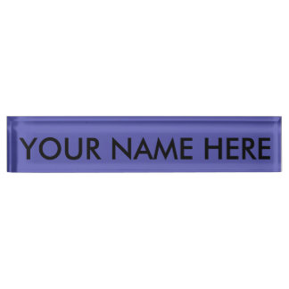 SLATE BLUE (solid color coloration, dude!) ~ Name Plate