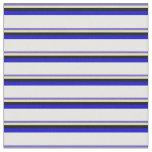 [ Thumbnail: Slate Blue, Tan, Black, Blue & White Colored Fabric ]