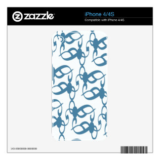 Slate Blue Tribal Lace iPhone 4S Decal