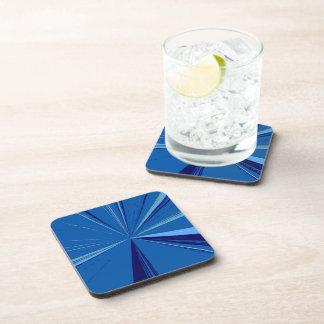 Slate Blue Vanishing Point Cork Coaster Set