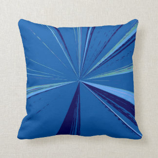 Slate Blue Vanishing Point Pillow by Janz