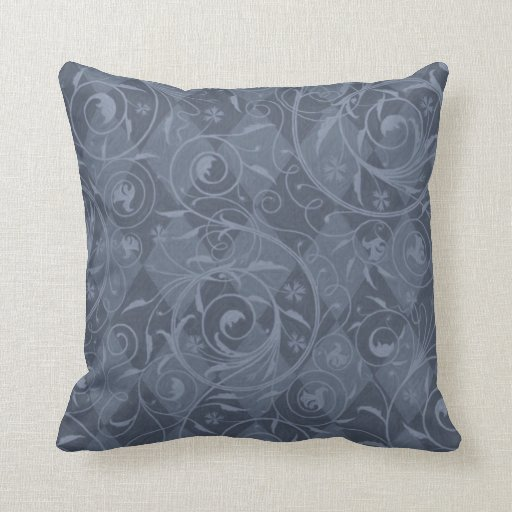 Slate Blue Venetian Medley Design Throw Pillow Zazzle