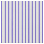 [ Thumbnail: Slate Blue & White Colored Lines/Stripes Pattern Fabric ]
