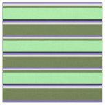 [ Thumbnail: Slate Blue, Yellow, Dark Olive Green, Green, Black Fabric ]