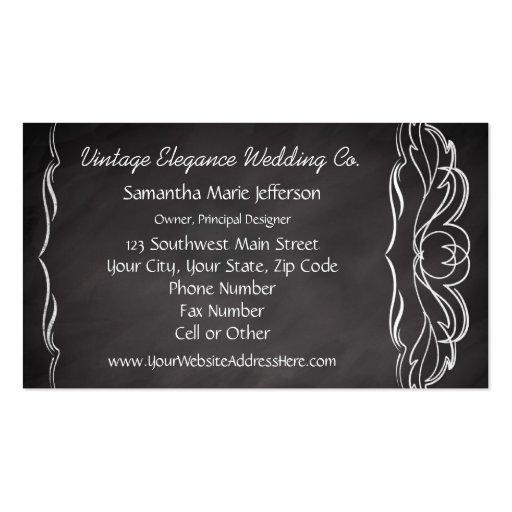 Slate Chalkboard-look Business Cards