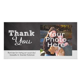 Slate Chalkboard-look Wedding Thank You Card