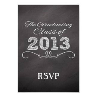 Slate Chalkboard Style Graduation 3.5x5 Paper Invitation Card