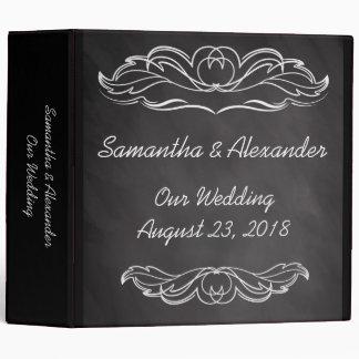 Slate Chalkboard Wedding 3 Ring Binder