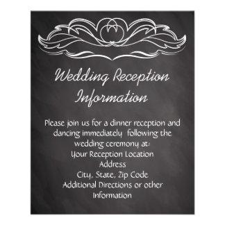 Slate Chalkboard Wedding Flyer Design
