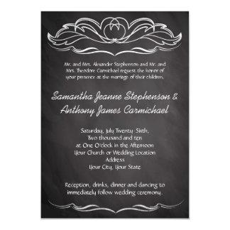 Slate Chalkboard Wedding Personalized Invite