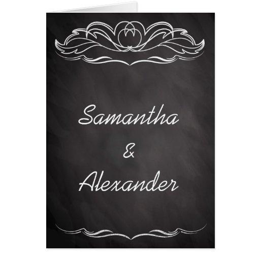 Slate Chalkboard Wedding Invitation Greeting Card