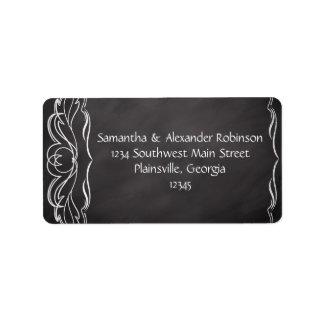 Slate Chalkboard Wedding Address Label