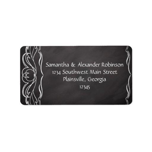 Slate Chalkboard Wedding Custom Address Label