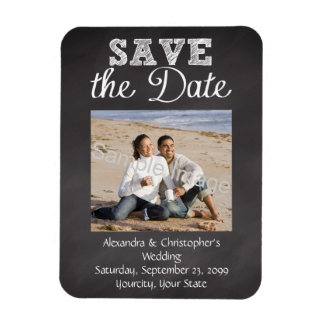 Slate Chalkboard Wedding Save the Date Magnet
