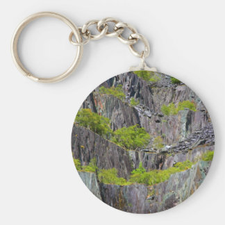 Slate cliff with trees keychain