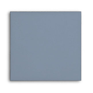 Slate Colonial Blue and Gray Linen Envelopes