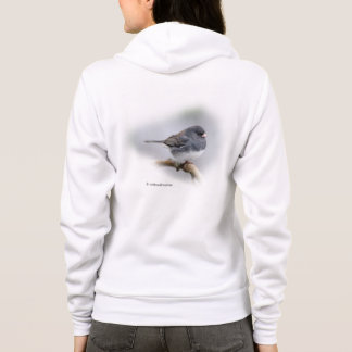 Slate-Colored Dark-Eyed Junco on the Pear Tree Hoodie