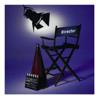 Slate del director, silla y luz 2 de la etapa posters