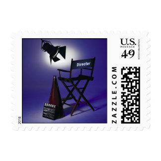 Slate del director, silla y luz 2 de la etapa franqueo