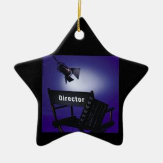 Slate del director, silla y luz de la etapa adorno de cerámica en forma de estrella
