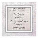 Slate Floral Wedding Invitation