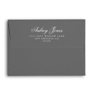 Slate Gray A7 Pre-Addressed Linen Envelopes