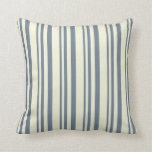 [ Thumbnail: Slate Gray and Beige Colored Lines Throw Pillow ]