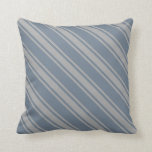 [ Thumbnail: Slate Gray and Dark Grey Colored Lines Pillow ]