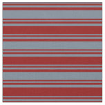 [ Thumbnail: Slate Gray and Dark Red Lines Fabric ]