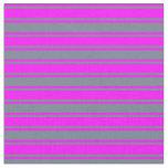 [ Thumbnail: Slate Gray and Fuchsia Lined Pattern Fabric ]