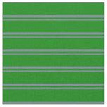[ Thumbnail: Slate Gray and Green Stripes Pattern Fabric ]