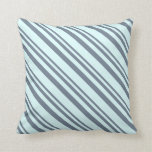 [ Thumbnail: Slate Gray and Light Cyan Colored Lines Pillow ]