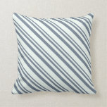 [ Thumbnail: Slate Gray and Mint Cream Colored Lines Pillow ]