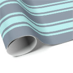 [ Thumbnail: Slate Gray and Turquoise Lines Wrapping Paper ]