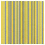 [ Thumbnail: Slate Gray and Yellow Pattern Fabric ]