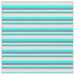 [ Thumbnail: Slate Gray, Aqua, and Beige Colored Stripes Fabric ]