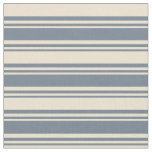 [ Thumbnail: Slate Gray & Beige Colored Pattern Fabric ]