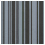 [ Thumbnail: Slate Gray & Black Colored Lines/Stripes Pattern Fabric ]