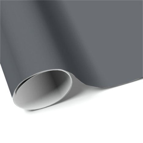 Slate Gray Charcoal Wrapping Paper