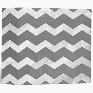 Slate Gray Chevron Pattern Binder
