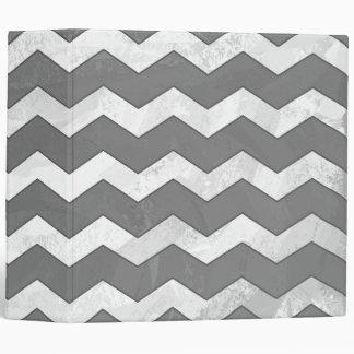 Slate Gray Chevron Pattern Binder